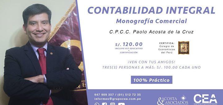 Contabilidad Integral: Monografía Comercial 100% Práctico